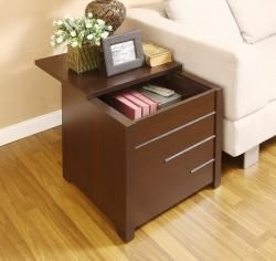 @Overstock - Keep clutter to a minimum with this hidden storage end table. The sliding top of this end table opens to reveal a hidden compartment that is ideal for stashing an array of items. The dark espresso finish of this table will complement any decor.http://www.overstock.com/Home-Garden/Max-Modern-Dark-Espresso-Hidden-Storage-End-Table/6713753/product.html?CID=214117 $111.59
