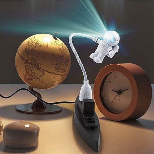Astronauta astronauta USB Mini LED noite lâmpada luz flexível para PC portátil de leitura portátil em Luzes da noite de Luzes & Iluminaçao no AliExpress.com | Alibaba Group