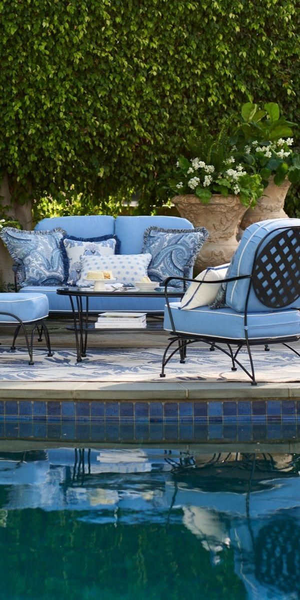 Recalling The Old World Charm Of Vintage Wrought Iron Bistro Furniture Our Exclusi Outdoor Patio Furniture Sets Blue Patio Furniture Quality Outdoor Furniture