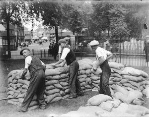 The Phoney War gave civilians time to prepare for conflict. Gas masks were distributed, and sandbag barriers were built around homes and public places.