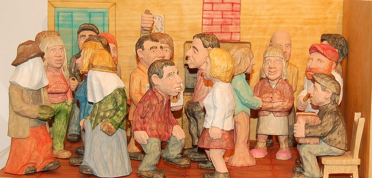 """""""Kitchen Party"""" by Newfoundland carver, Kevin Coates: from the Craft Council of Newfoundland & Labrador http://www.craftcouncil.nl.ca/"""