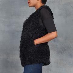 Tart Gabriel Faux Fur Vest in Black
