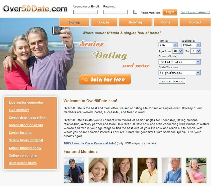 List of online dating sites for seniors