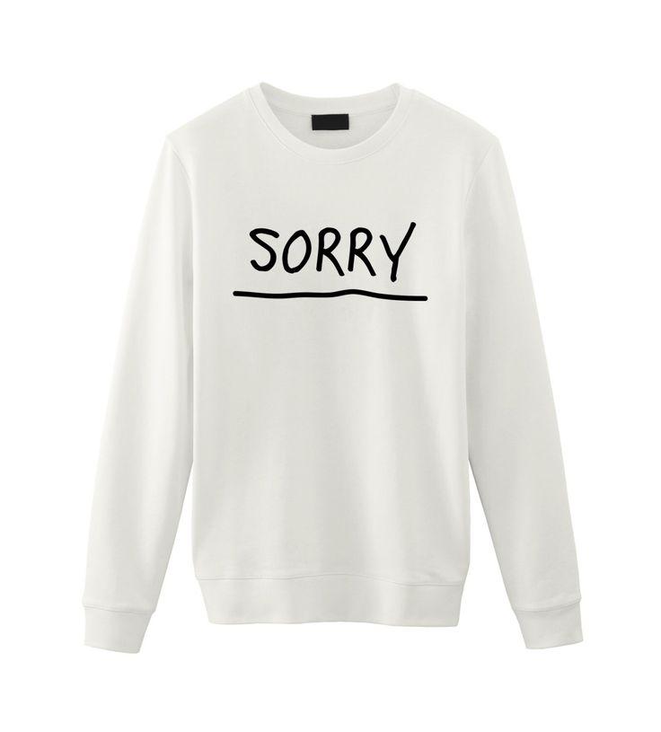 Justin Bieber / Sorry / Unisex Sweatshirt Sweater / Tumblr Inspired by FellowFriendsCo on Etsy https://www.etsy.com/listing/253292450/justin-bieber-sorry-unisex-sweatshirt