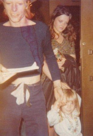 David Bowie pictured with son Duncan 'Zowie' Jones and nanny Marion Skene