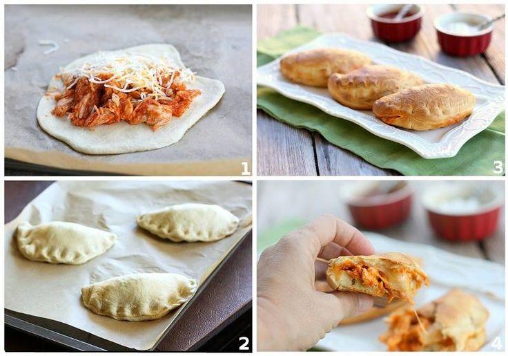 Chicken Taco Melts recipe -> http://lovecookeat.com/chicken-taco-melts/