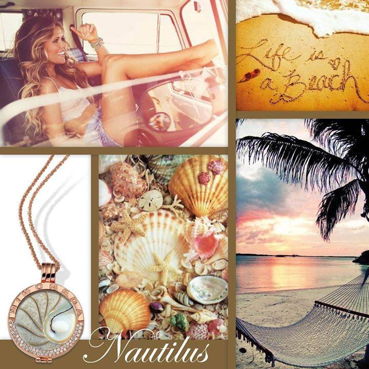 Mi Moneda Nautilus with Rose Gold Plated pendant and chain #MiMoneda #LoveMiMoneda