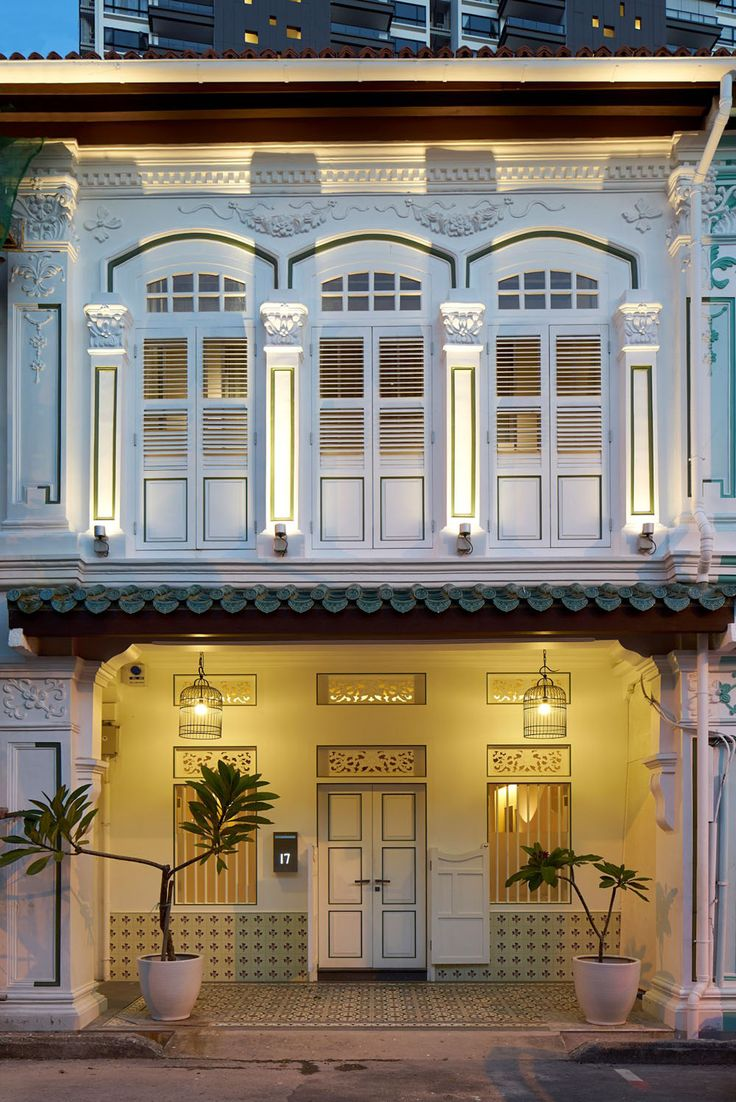Classic Blair Road shophouse in Singapore painstakingly restored by ONG&ONG.
