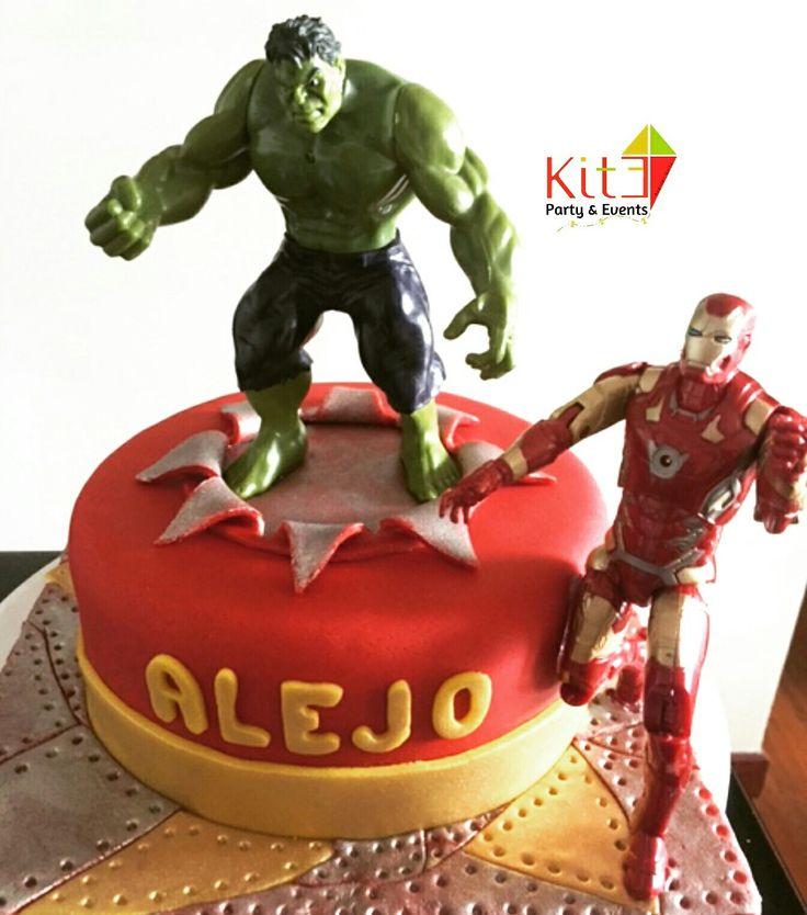 Hulk & Ironman Cake