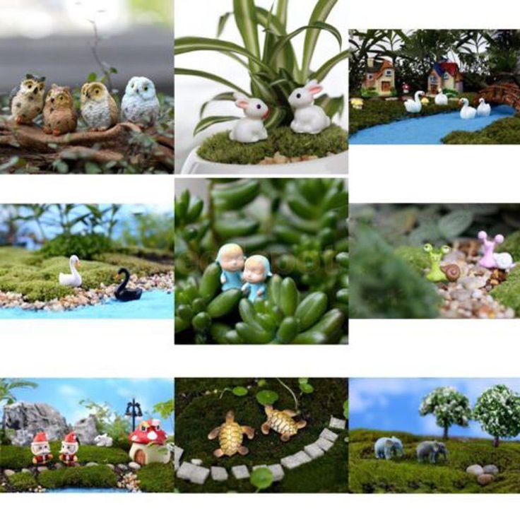 Mini Casa De Muñecas De Hada de jardín Terrario Estatuilla Decoración hágalo usted mismo Bonsai Paisaje Sx   Hogar y jardín, Decoración para interiores, Estatuillas   eBay!