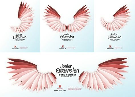 Junior Eurovision Song Contest 2017 Logo Idea #Design #Theme #Art #Artwork #graphic #georgia #tbilisi #eurovision #contest #panduri #borjgali