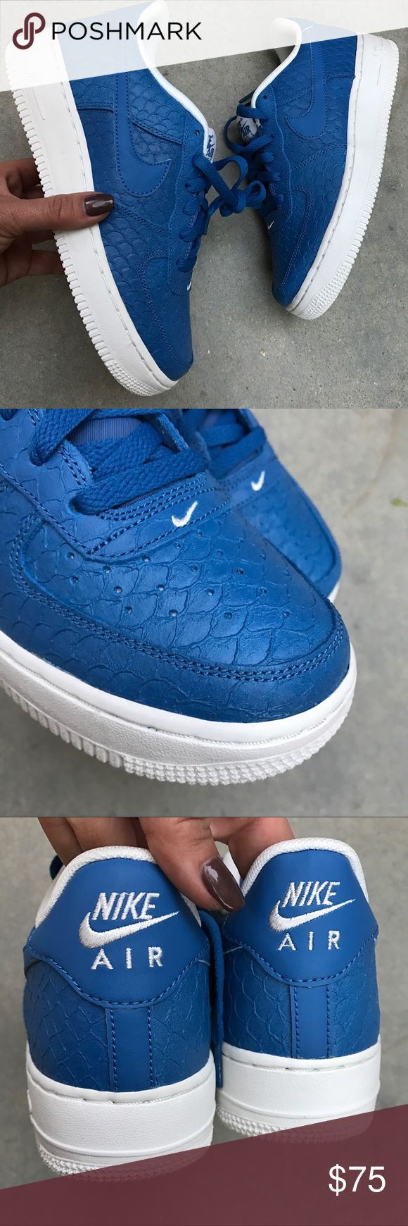 NEW | NIKE AIR FORCE ONE SZ 6 youth UNISEX New never worn 💙 NIKE AIR FORCE ONE PREMIUM  Ships same or next day, NO ORIGINAL BOX, smoke free home.  PRICE IS FIRM. 100% authentic purchased directly from NIKE 💙 Nike Shoes Sneakers