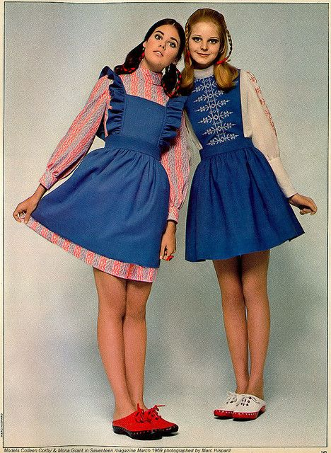 Colleen Corby & Mona Grant 1969 by AngoraSox, via Flickr