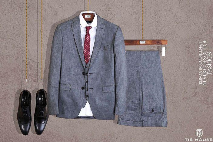 وفرها كوم حصريا خصم 50 على ملابس تاي هاوس الرجالي الأنيقة لفترة محدودة Suit Jacket Single Breasted Suit Jacket Blazer
