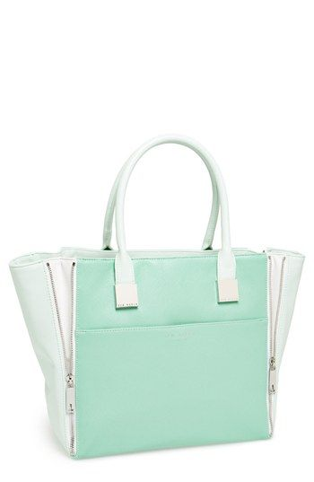 Love the mint and shape! WANT!  Ted Baker London Leather Shopper available at #Nordstrom