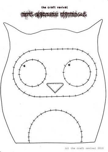 Free Felt Craft Patterns | Topic: Super Cute Owl Cushion + TUTORIAL! (Read 23546 times)