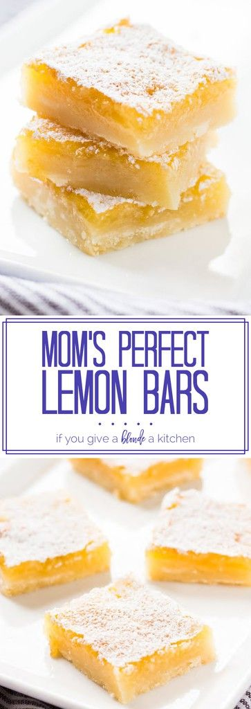 These perfect lemon bars are gooey, citrusy and absolutely delicious!   www.ifyougiveablondeakitchen.com