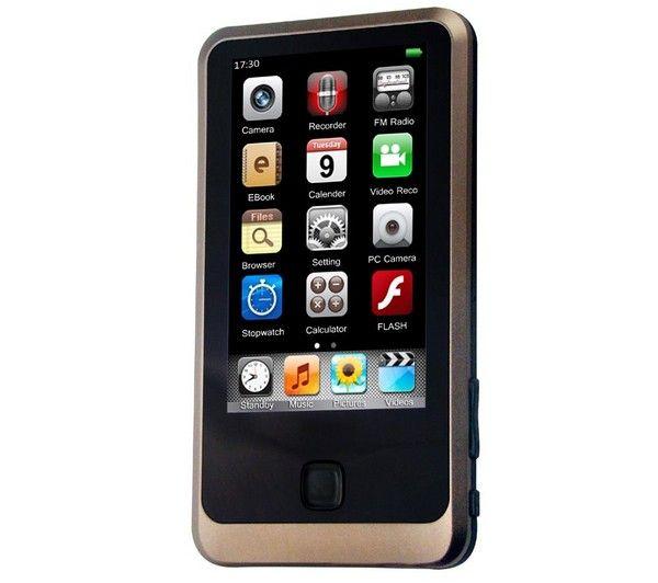 TS350 MP4 FM Player 8 GB   CS01 Stereo earphones   USB Charger - white