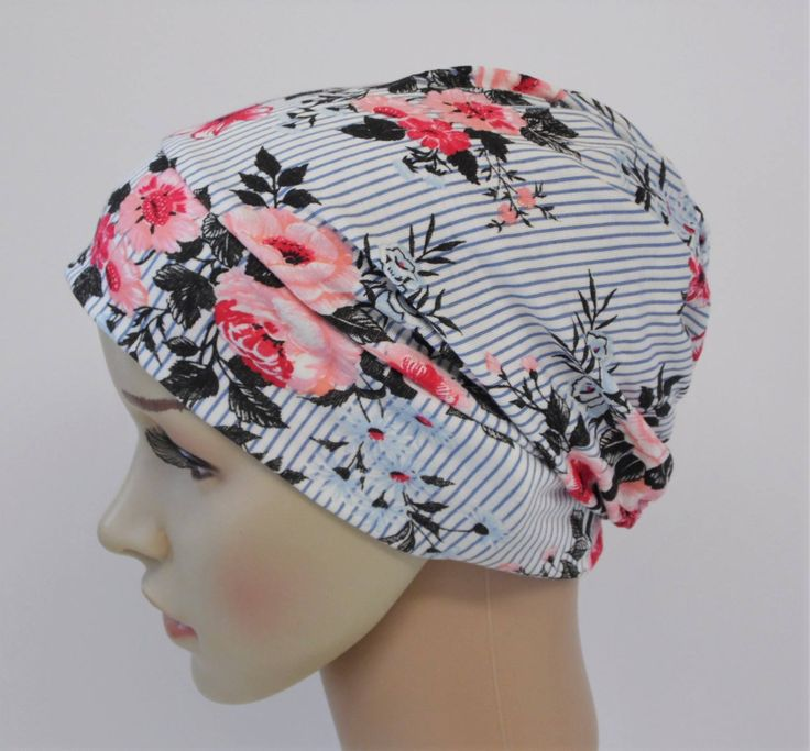 Ladies women's summer beanie, bad hair day hat, slouchy hat, viscose jersey beanie, chemo hat, chemo beanie by accessoriesbyrita on Etsy