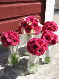 simple pink bouquets