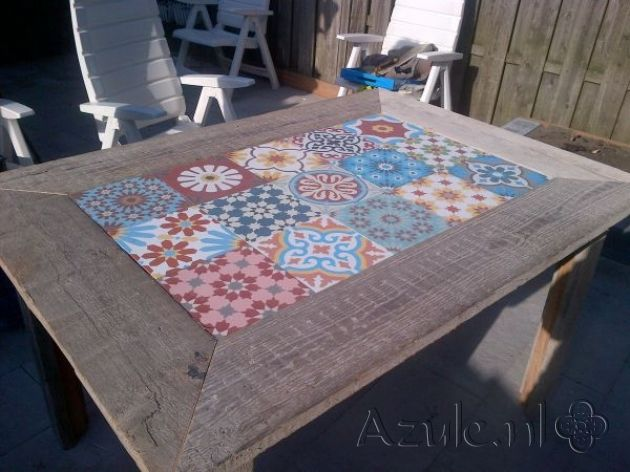 Cement Tiles Furniture - Patchwork - Project van Designtegels.nl