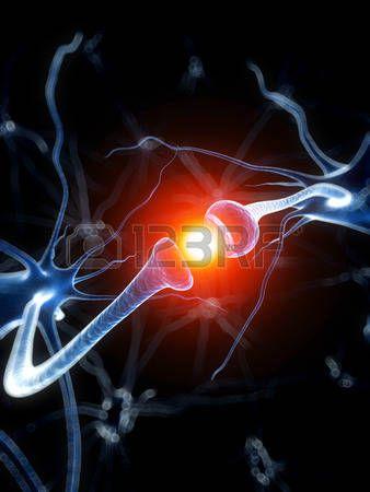 3D оказываемых медицинских иллюстрация - активные нейроны photo