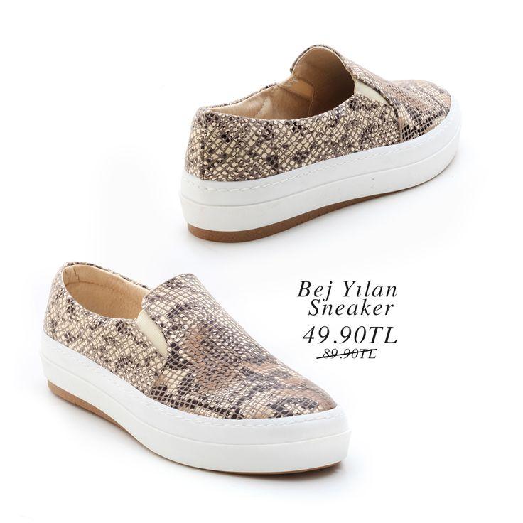 Bej Yılan Sneaker 49.90TL http://www.modsimo.com/eepv~u~bej-yilan-ayakkabi-babet-spor-3285-4427