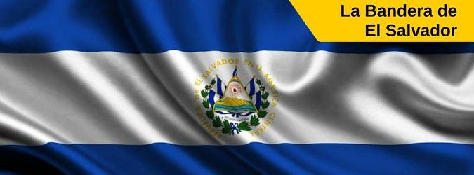 Significado de la bandera de El Salvador. Flag of El Salvador. Descripción de la bandera de El Salvador. bandera magna, bandera para desfiles, bandera para edificios