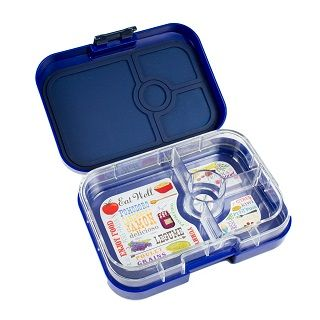 Yumbox Panino Tuttifrutti Blue Get ready to revolutionise lunch! Yumbox Panino, a newly inspired bento lunch box makes it possible for anyone to pack a nutritionally balanced meal in minutes! It has four sections and room for a full sandwich or a large salad making it the Yumbox for bigger Tummies.  It's perfect for a packed school lunch, toddler meals, snacks and adult meals. $39.95 #sweetcreations #baby #nursery #kids #newparents #parenting