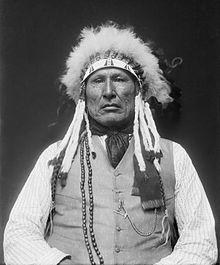 Wooden Leg (Cheyenne Kâhamâxéveóhtáhe) (1858–1940) was a Northern Cheyenne warrior who fought against Custer at the Battle of the Little Big Horn.