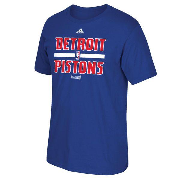 Detroit Pistons adidas On-Court 2016 NBA Playoffs Team Phrase T-Shirt - Royal - $17.99