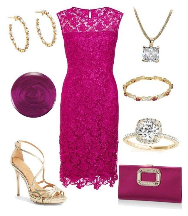 """""""High Tea Outfit 52 - Melissa"""" by office-girl ❤ liked on Polyvore featuring Gina Bacconi, Badgley Mischka, Roger Vivier, Allurez, Ivanka Trump, Zoya and Classic Treasures"""
