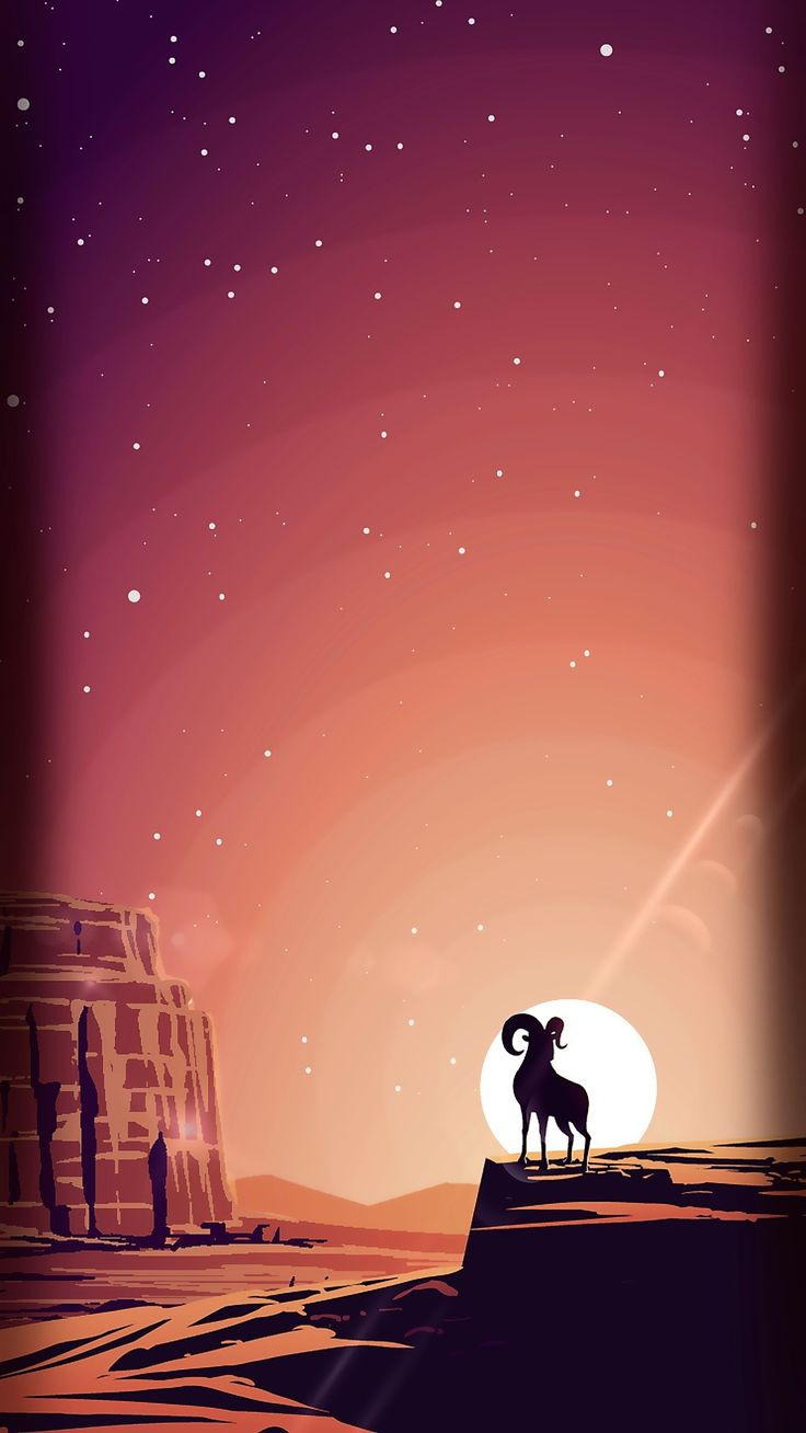 Sunset Vector - Tap to see more cute cartoon wallpapers! - @mobile9