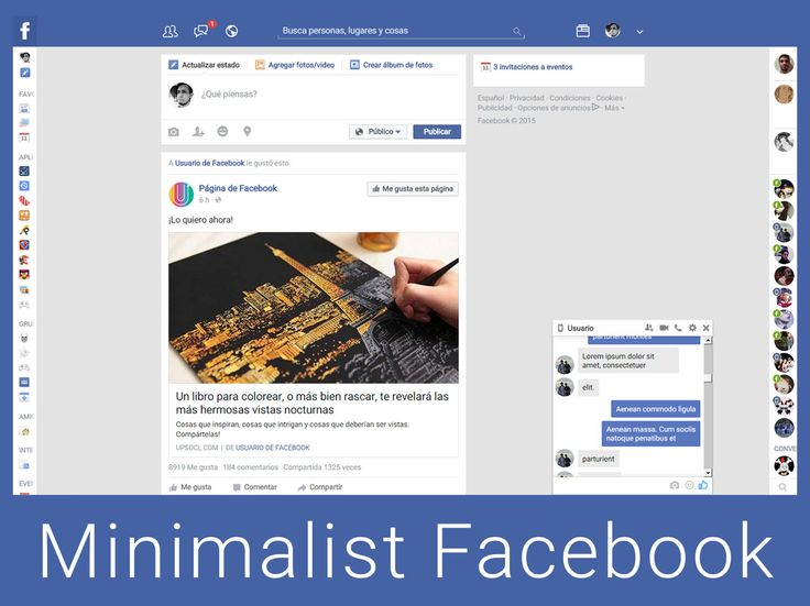 Minimalist Facebook 2015