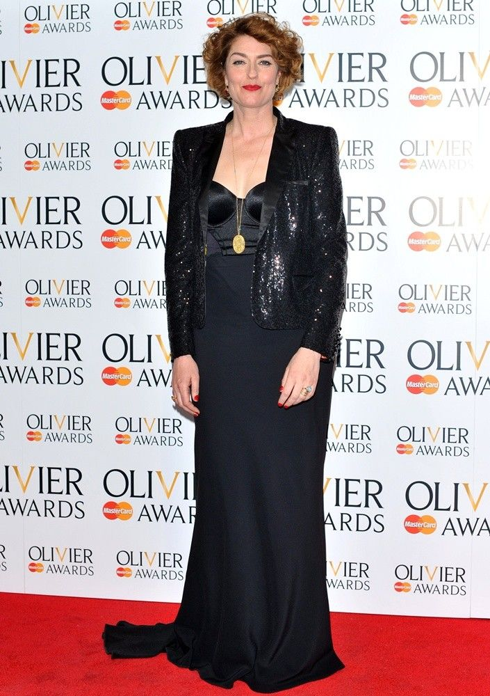 Anna Chancellor wear Scandale at the The Olivier Awards 2013