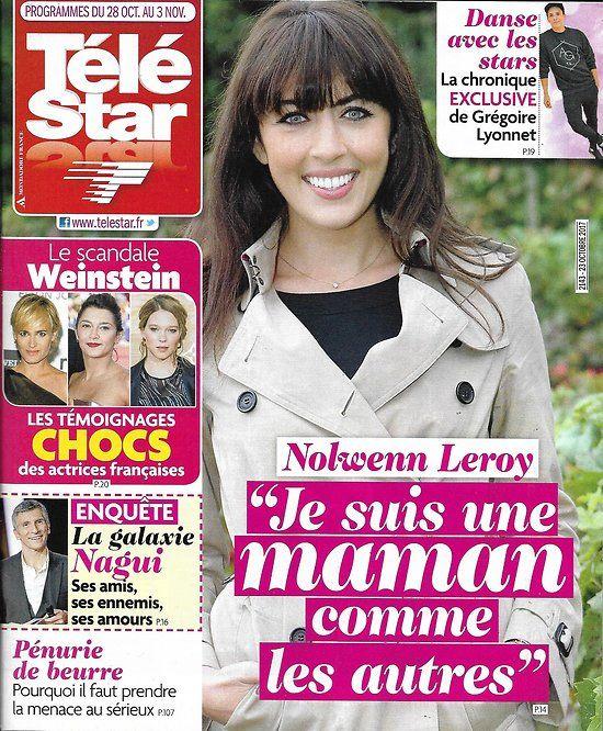 TELE STAR n°2143 28/10/2017  Nolwenn Leroy/ Scandale Weinstein/ La galaxie de Nagui/ Hemsworth/ Nouvelle Star
