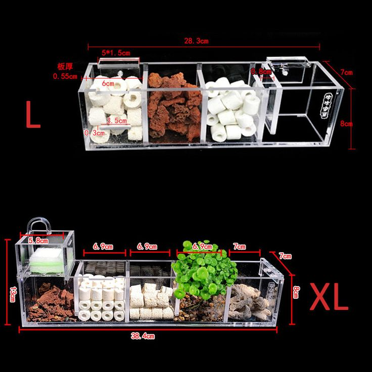 Aquarium External Filter Box Fish Tank Filter Box without Water Pump Water ~ | eBay