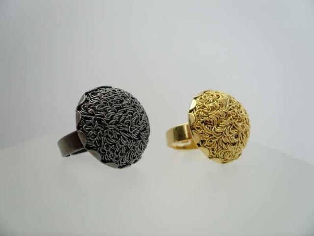sortija en baño de oro gold plated ring