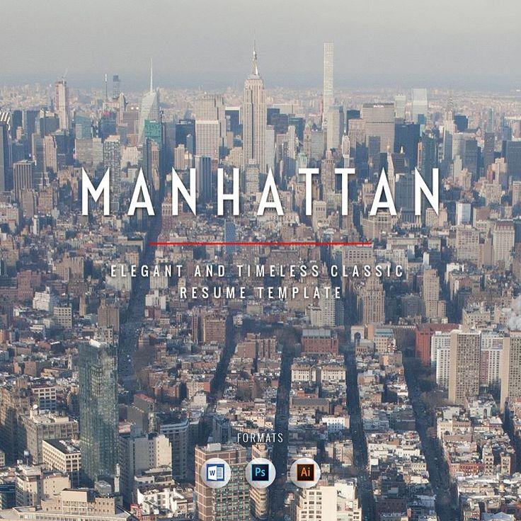 Manhattan Resume Template - Elegant and Timeless Classic - http://rockstarcv.com/product/manhattan-resume-template/ #Resume #ResumeTemplate https://www.instagram.com/p/BSZX34ul8Hk/ Resume Template Creative Resume Design Teacher Resume Resume Style Resume Design Curric