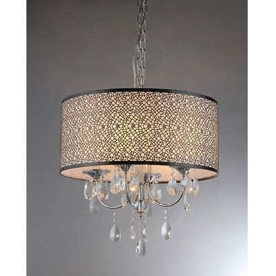 Found it at wayfair lush 4 light crystal drum chandelier