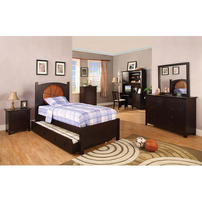 Connor Basketball Theme Twin Size Bedroom Set