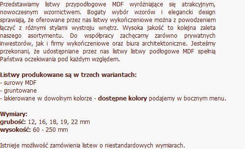 Listwy nowoczesne Aktua - KomfortexSPA | producent listew przypodłogowych i wykończeniowych