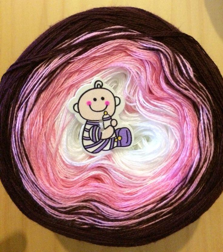 Gradient yarn cake, 3-ply ❤️ Http://www.favebook.de/LittleFavorites