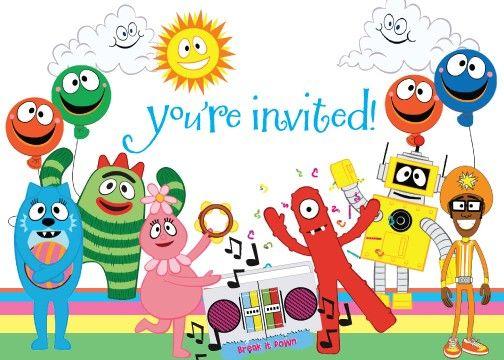 212 best yo gabba gabba printables images on pinterest | yo gabba, Birthday invitations