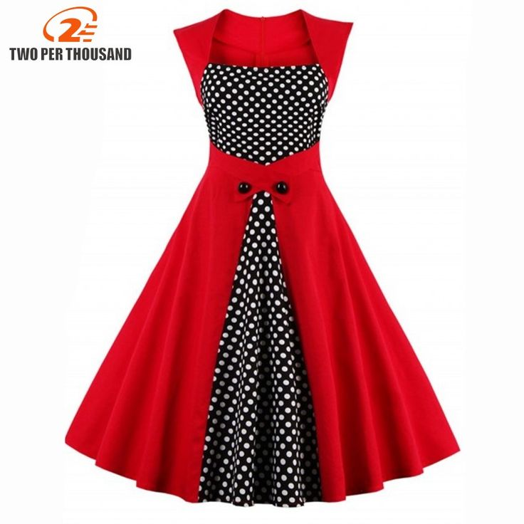 Cheap vestidos mujer, Buy Quality 50s dress directly from China dress polka dot Suppliers: 2017 Summer Women Robe Pin Up Dress Retro 50s Dress Polka Dots Pinup Rockabilly Sexy Party Dresses Vintage Tunic Vestidos Mujer