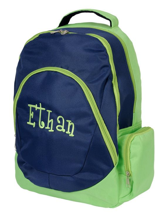 Childrens Personalized Backpack Navy By PeaceLoveCraftiness