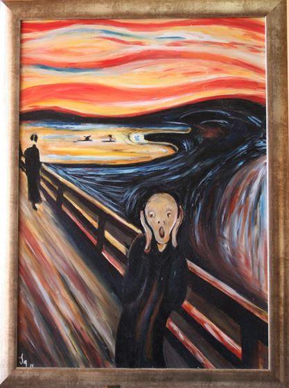 """Riproduzione di un'opera di Munch """"L'Urlo"""" - olio su tela"""