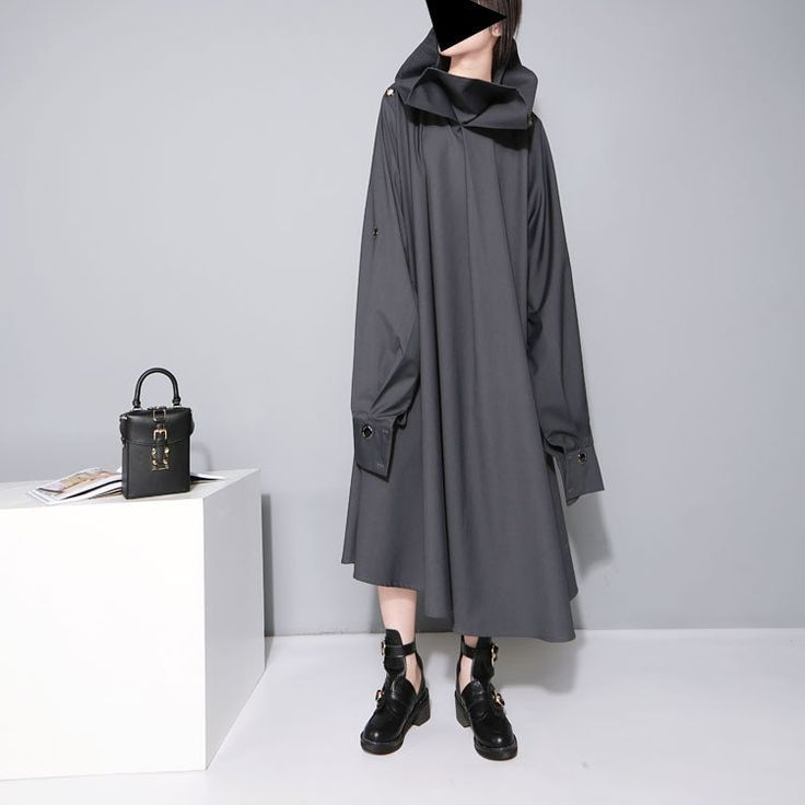 Turtle Neck Big Bow Oversized Dress/outerwear