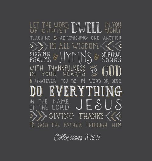 Colossians 3 16 17 scripture prints and free desktop ipad - Bible verse background iphone ...