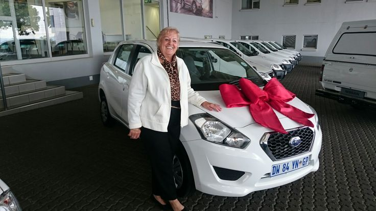 #Congratulations to Mrs Marija Carr on her 2015 #Datsun #Go 1.2 #Lux Wishing you many happy miles!   Contact me for all your #new #used #preowned #demo #cars #bakkies #sedans #hatchbacks #SUV #Coupe ALL MAKES AND MODELS!   #Finance available, #best prices for your trade in, I deliver across SA!   #Refer clients for my cars and I will #pay you #cash for each #successful deal!   0828858780 aadil.khan@supergrp.com www.deviantdealer.co.za